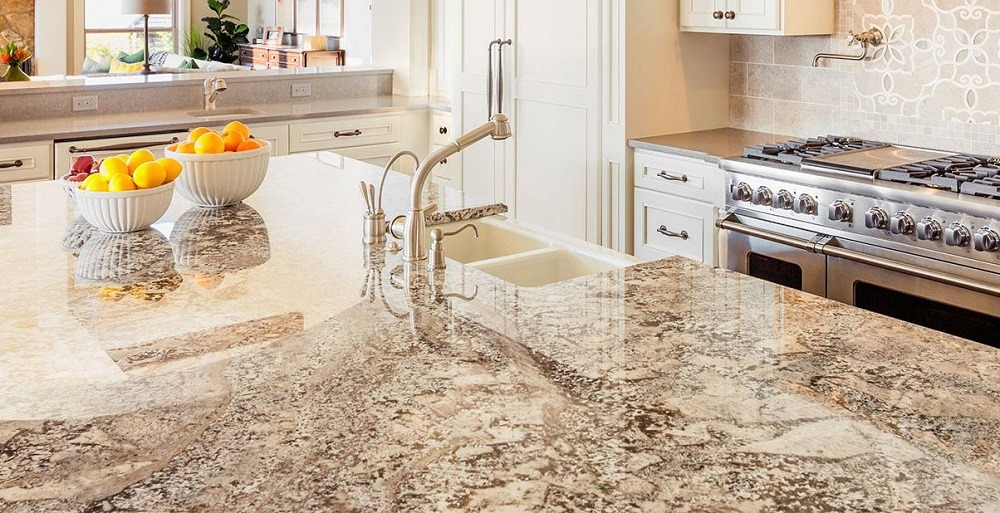 Use a granite sealant to prevent hard water stains.