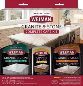 Our pick for Best Budget is the Weiman Granite Complete Care Kit.