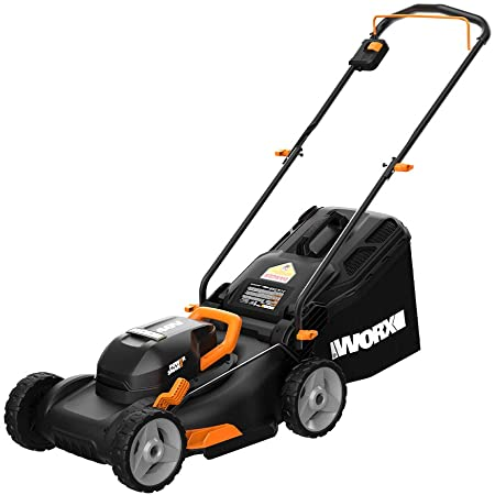 The WORX WG743 cordless lawn mower is a powerful, lightweight, and perfect for small lawns.