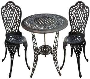 Add a flair of vintage to your outdoor area with this conversation set from Christopher Knight.