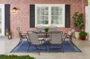 For a patio furniture set under $300, this is the most worth it thanks to its seating capacity.